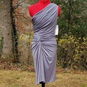 Grey One-shoulder Dress